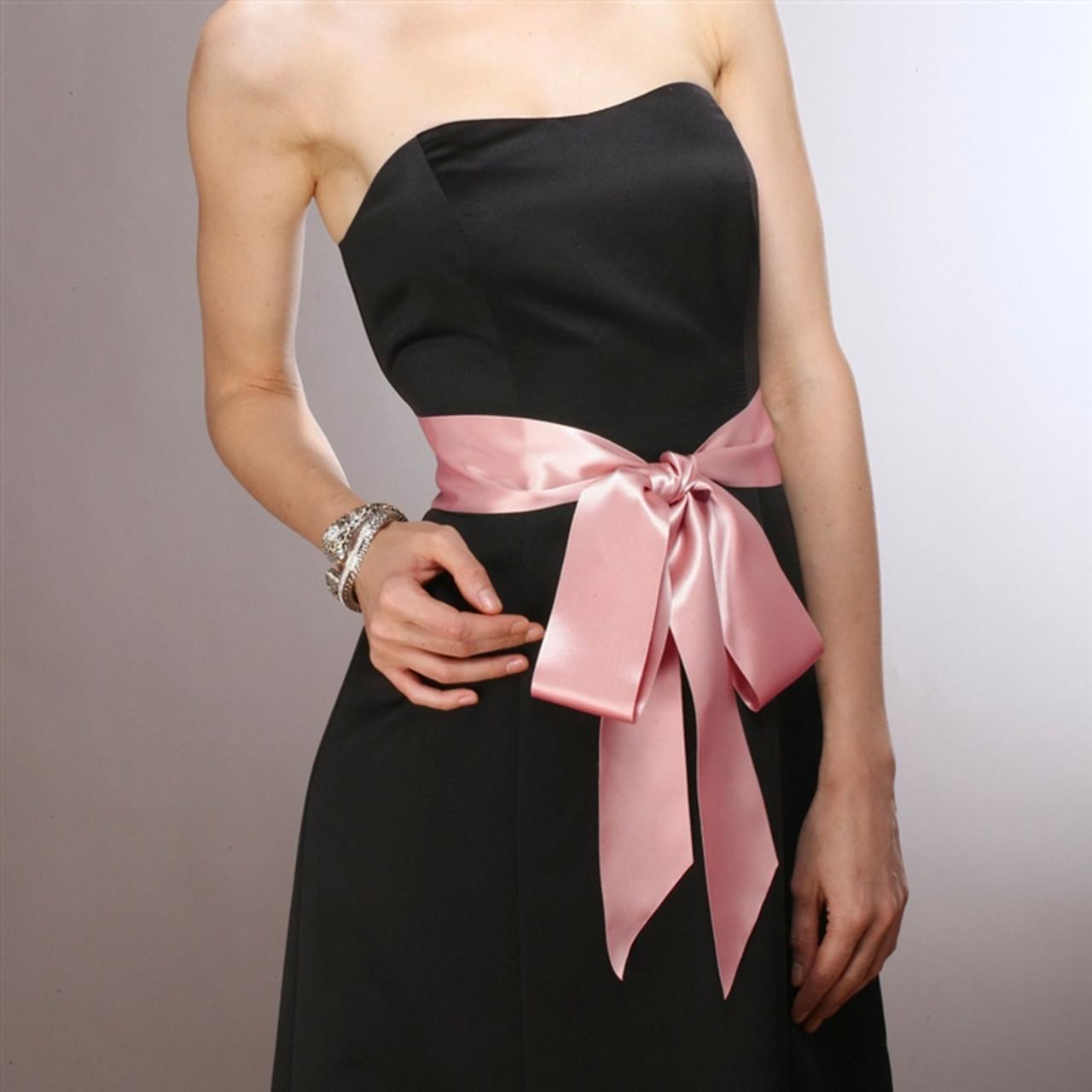 Blush Color Double Sided French Satin Ribbon Sash 3928SH-BLS