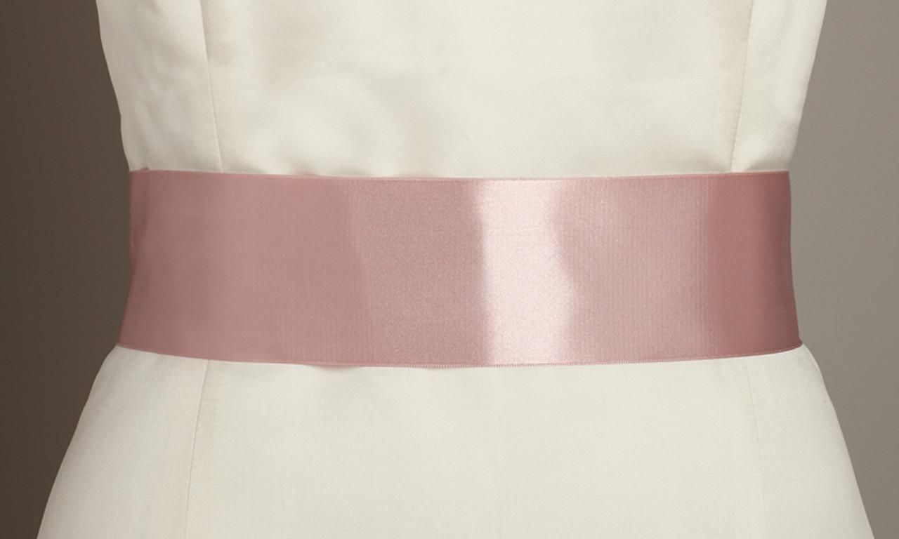 Mariell Blush Color Double Sided French Satin Ribbon Sash 3928SH-BLS