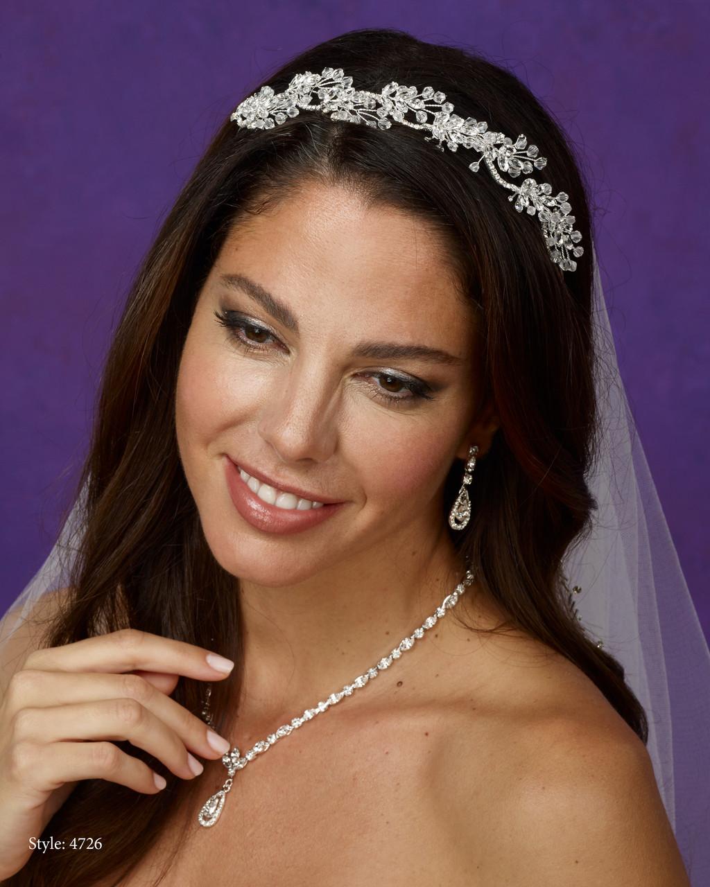 Marionat Bridal 4726 Crystal and rhinestone band - Le Crystal Collectio
