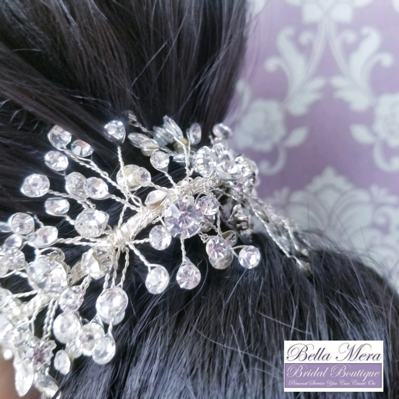 Bella Mera Bridal - Bun Wrap or Side Headband - Style HP400