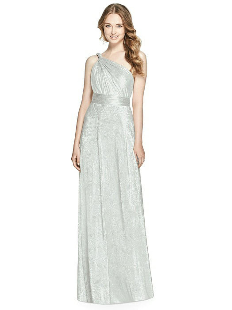 Soho Metallic Twist Dress - Silver Crush - In Stock Dress
