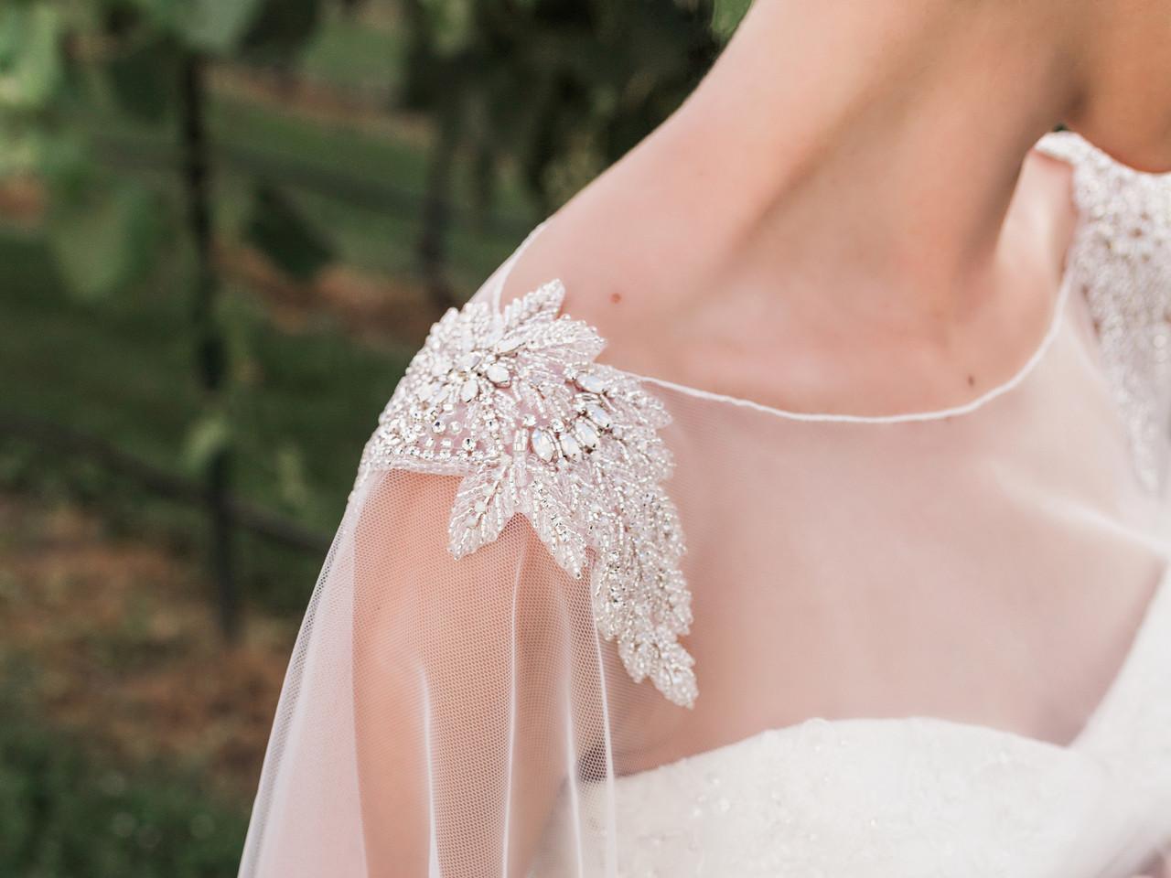 En Vogue Bridal Capelet CP1921 - Beaded design