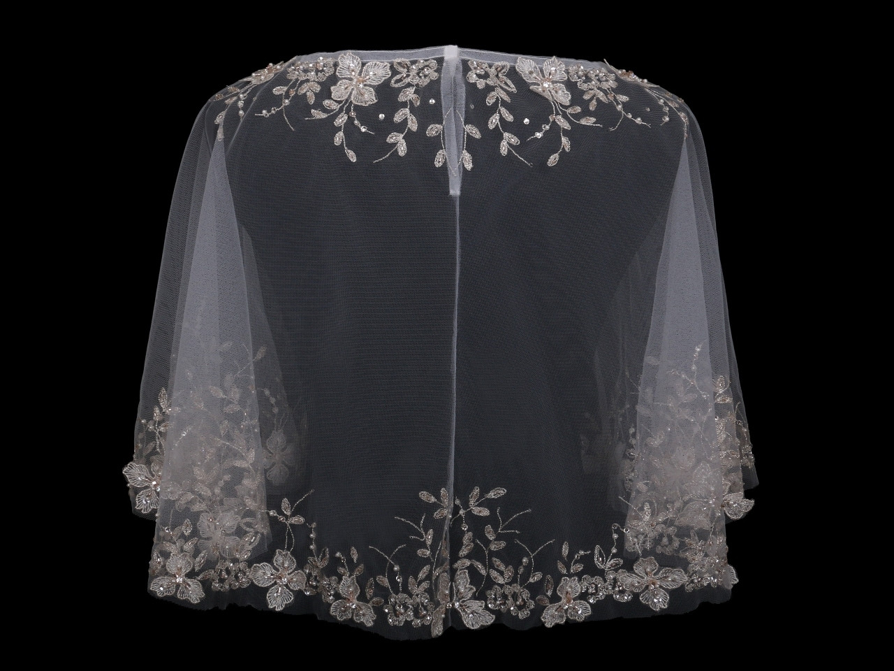 En Vogue Bridal Capelet CP1824 - Emroidered and beaded design