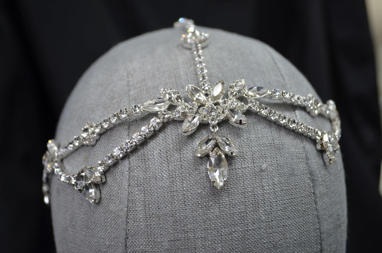 Elena Designs Headpiece E928 - Rhinestone marquee headpiece