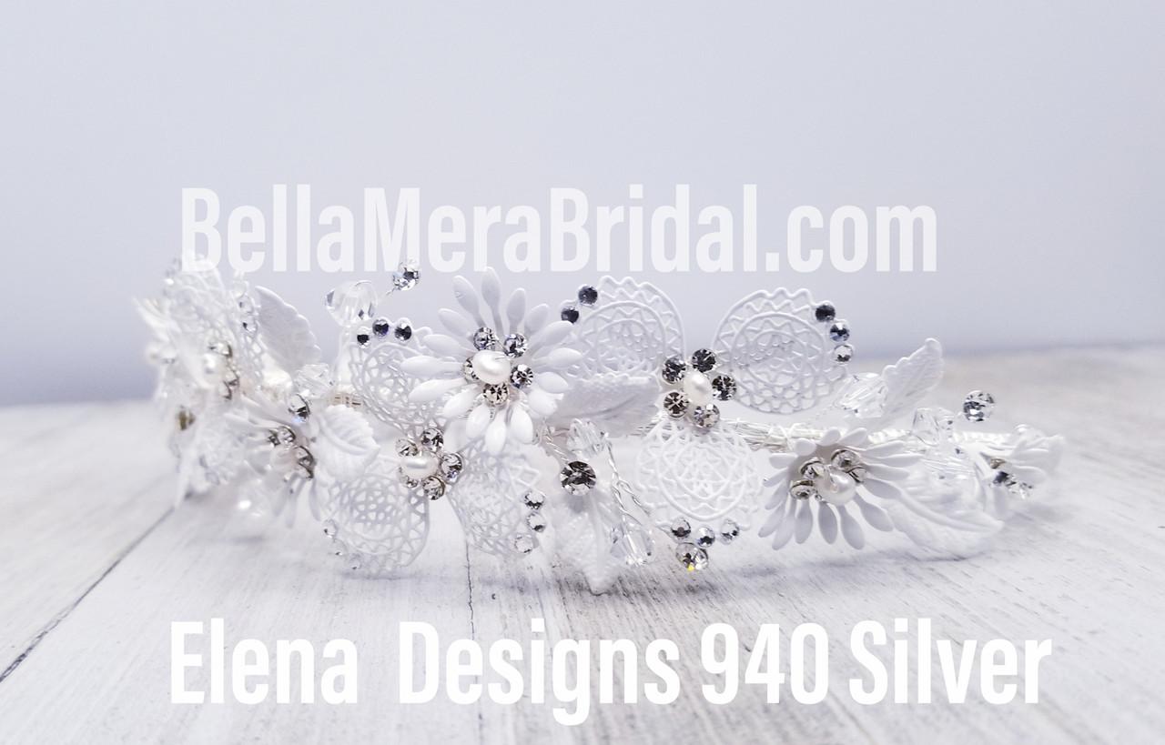 Elena Designs Headpiece E940 - Painted floral headband