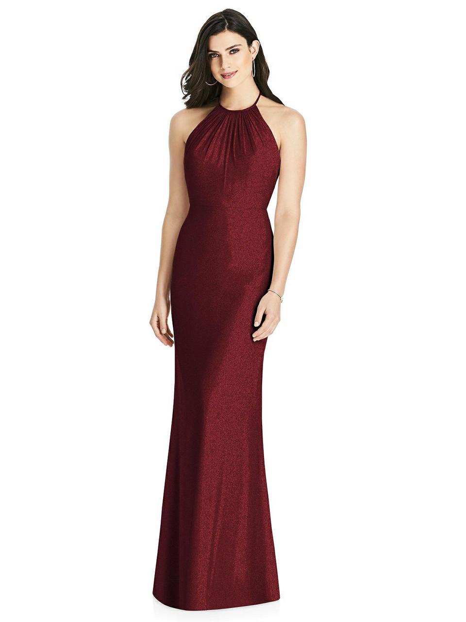 Dessy Shimmer Bridesmaid Dress 3022LS - Lux Shimmer