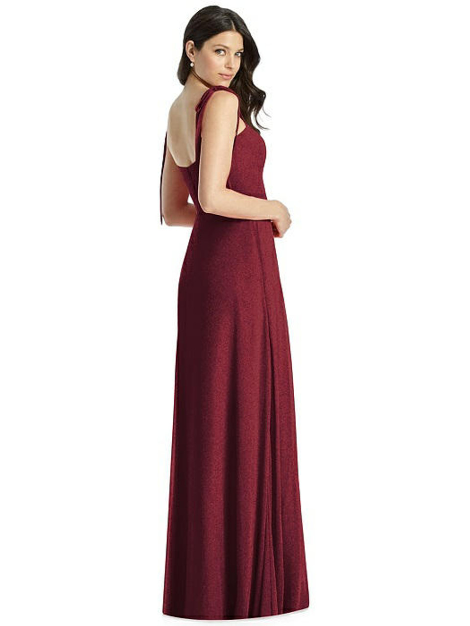 Dessy Shimmer Bridesmaid Dress 3042LS - Lux Shimmer
