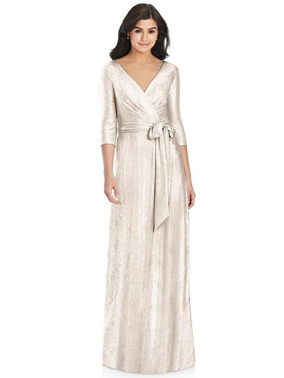 Rose Gold  - Dessy Collection Bridesmaid Dress 3028 - Soho Metallic