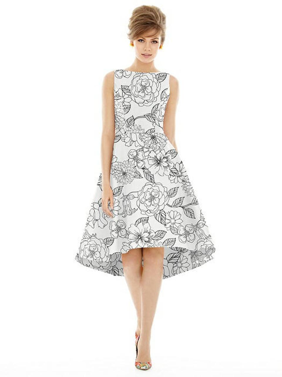 Alfred Sung Bridesmaid Dress D697FP - Sateen Twill - Botanica