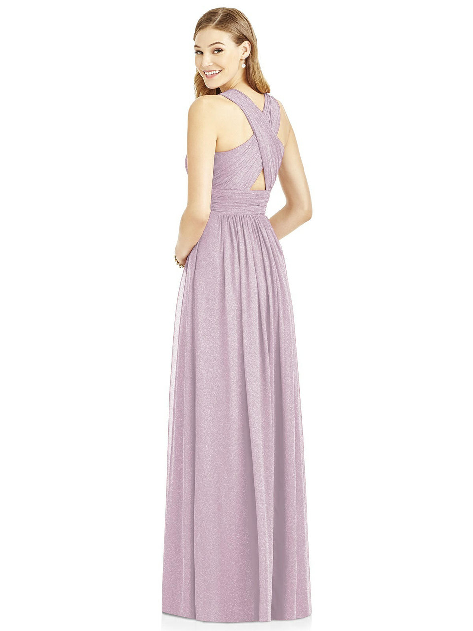 After Six Bridesmaids Style 6752LS by Dessy - Lux Shimmer
