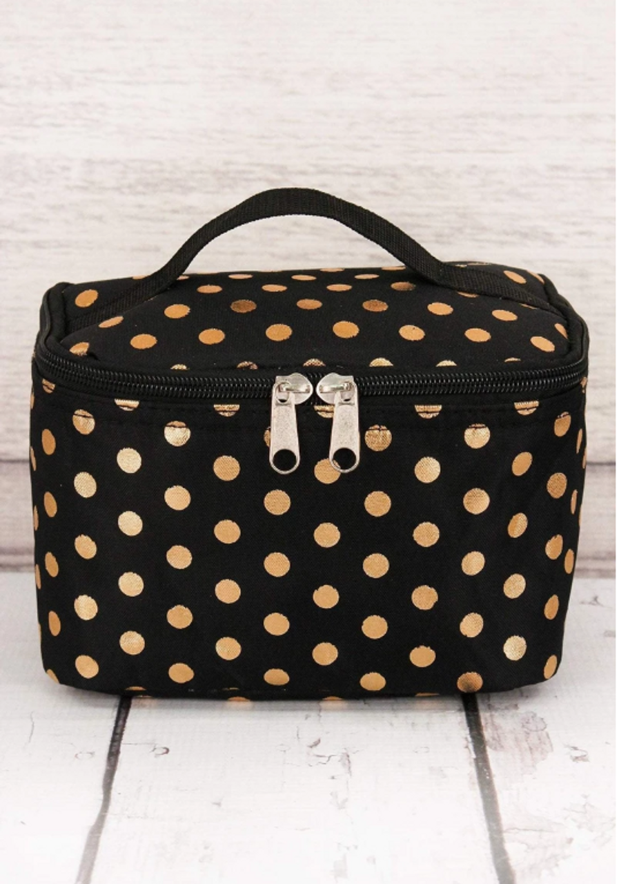 Essentials Black & Gold Polka Dot Carrying Bag