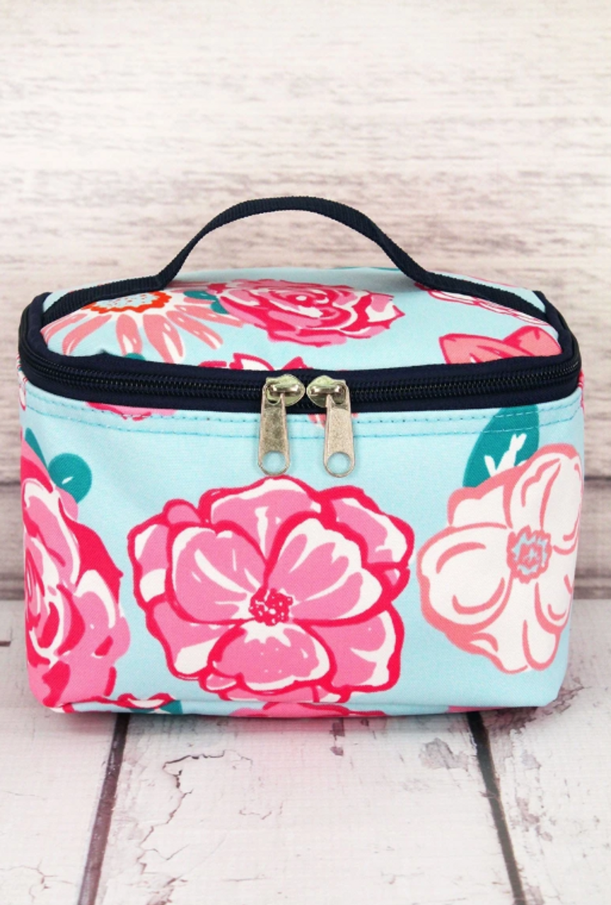 Essentials Floral with Navy Trim Carrying Bag