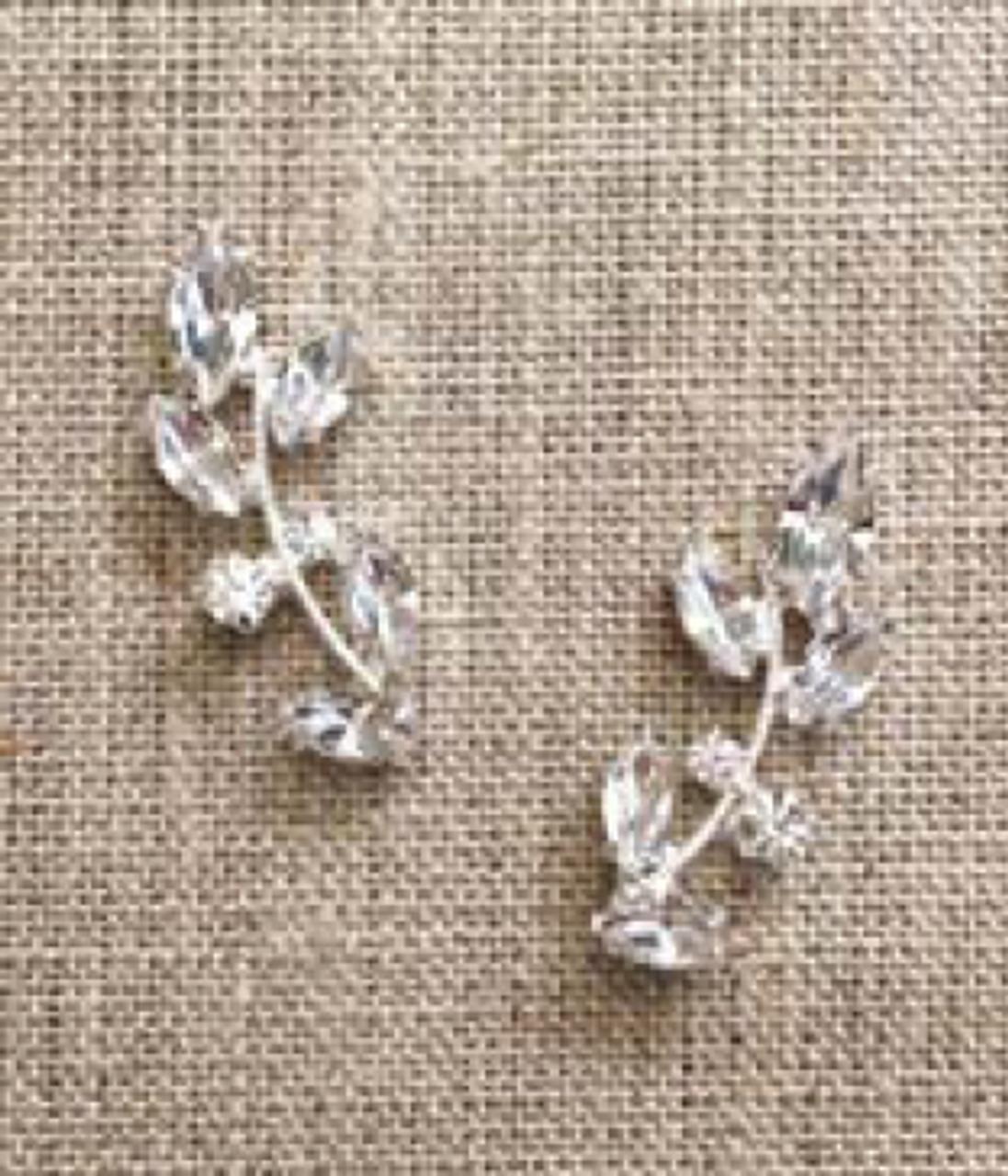 Bel Aire Bridal Earrings EA262 - Rhinestone drop earrings