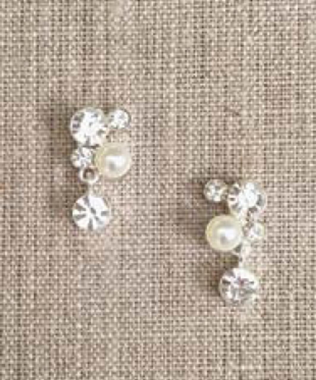 Bel Aire Bridal Earrings EA265 - Rhinestone drop earrings