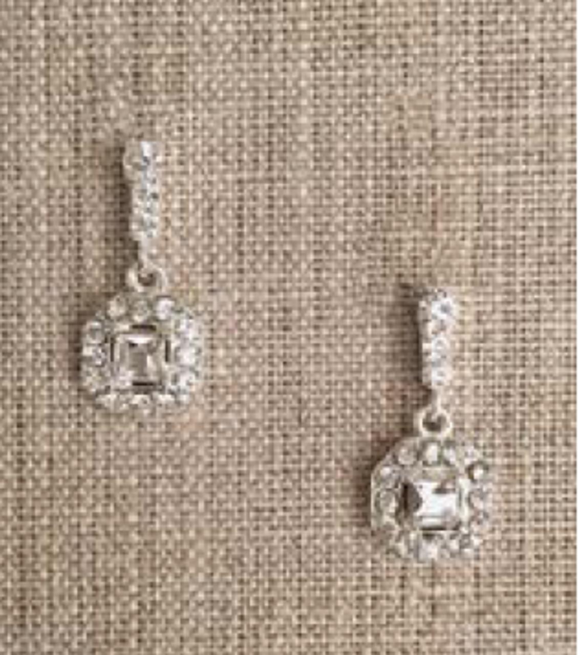 Bel Aire Bridal Earrings EA270 - Rhinestone drop earrings