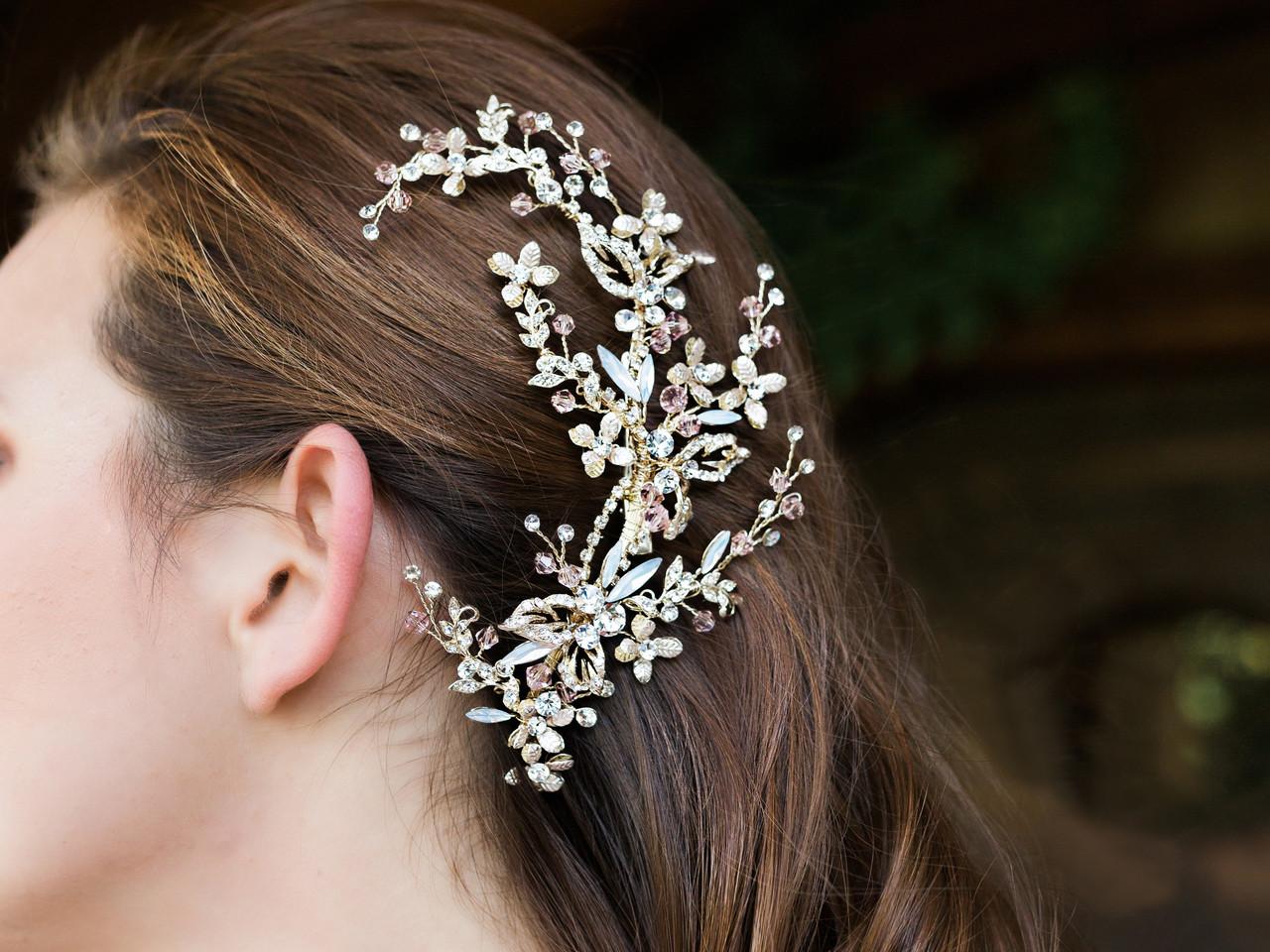 En Vogue Bridal Comb HC1932 - Rhinestone and crystal accents