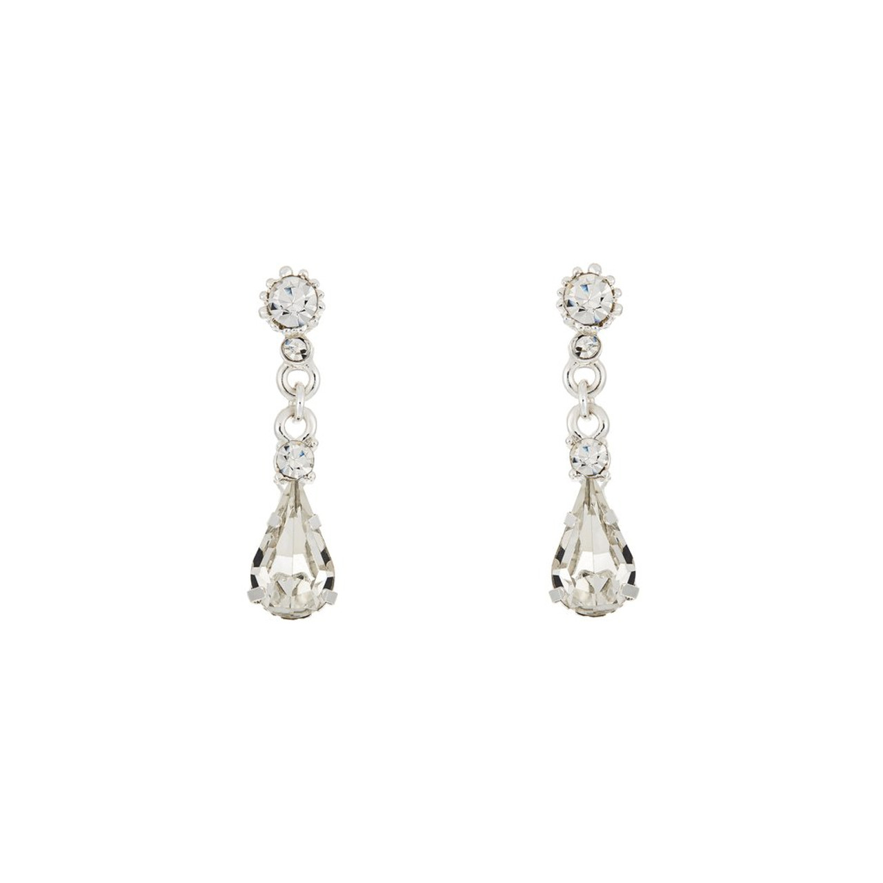 Marionat Bridal Jewelry 12503 Small rhinestone hanging earrings