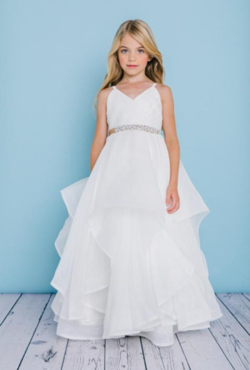 Rosebud Fashions Flower Girl Dresses Style 5132 - Horsehair Trim