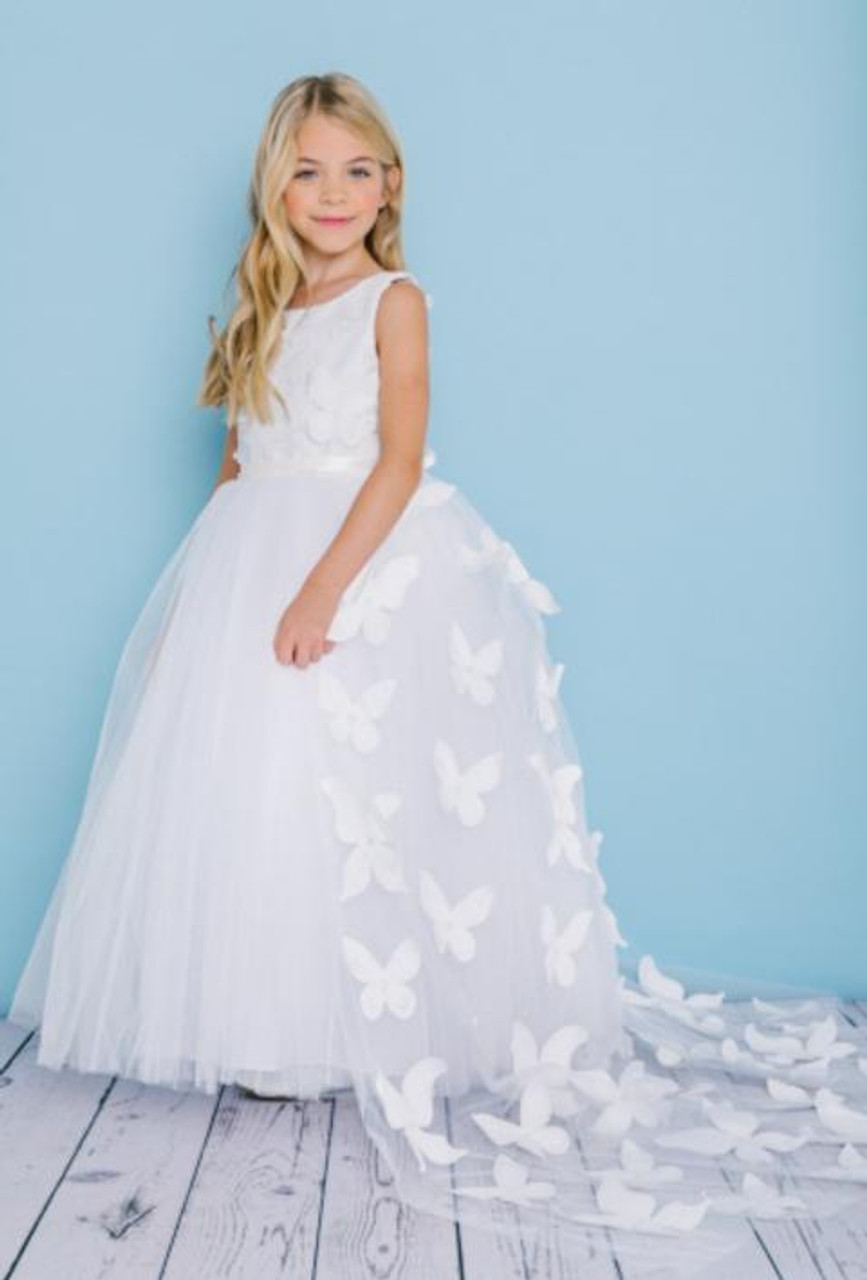 Rosebud Fashions Flower Girl Dresses Style 5134 - Satin, Lace, and Tulle