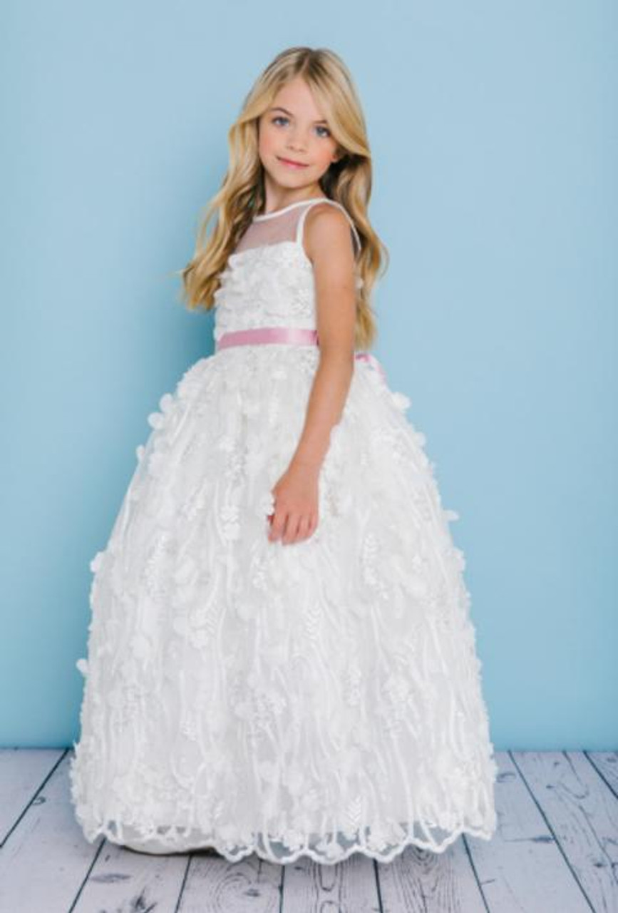 Rosebud Fashions Flower Girl Dresses Style 5133 - Satin and Lace
