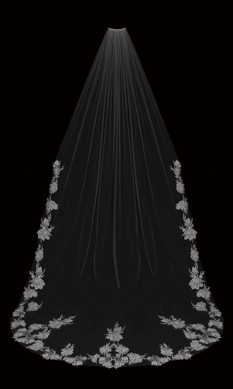"En Vogue Bridal Cathedral Style V2098C - Beaded Design - 108"" Inches"