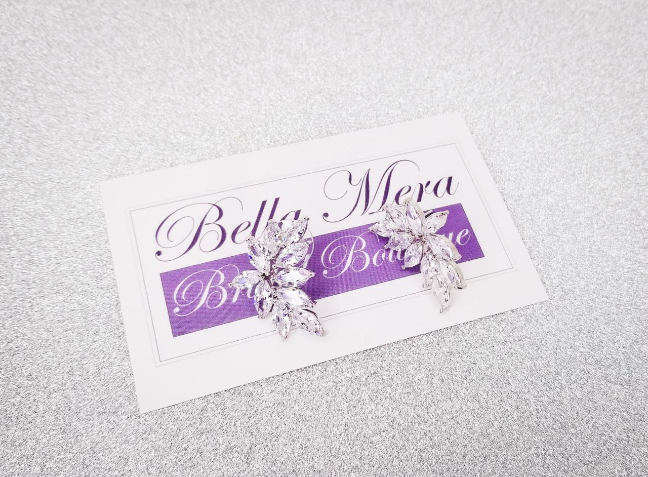 Bella Mera Studio Silver Cluster Earrings