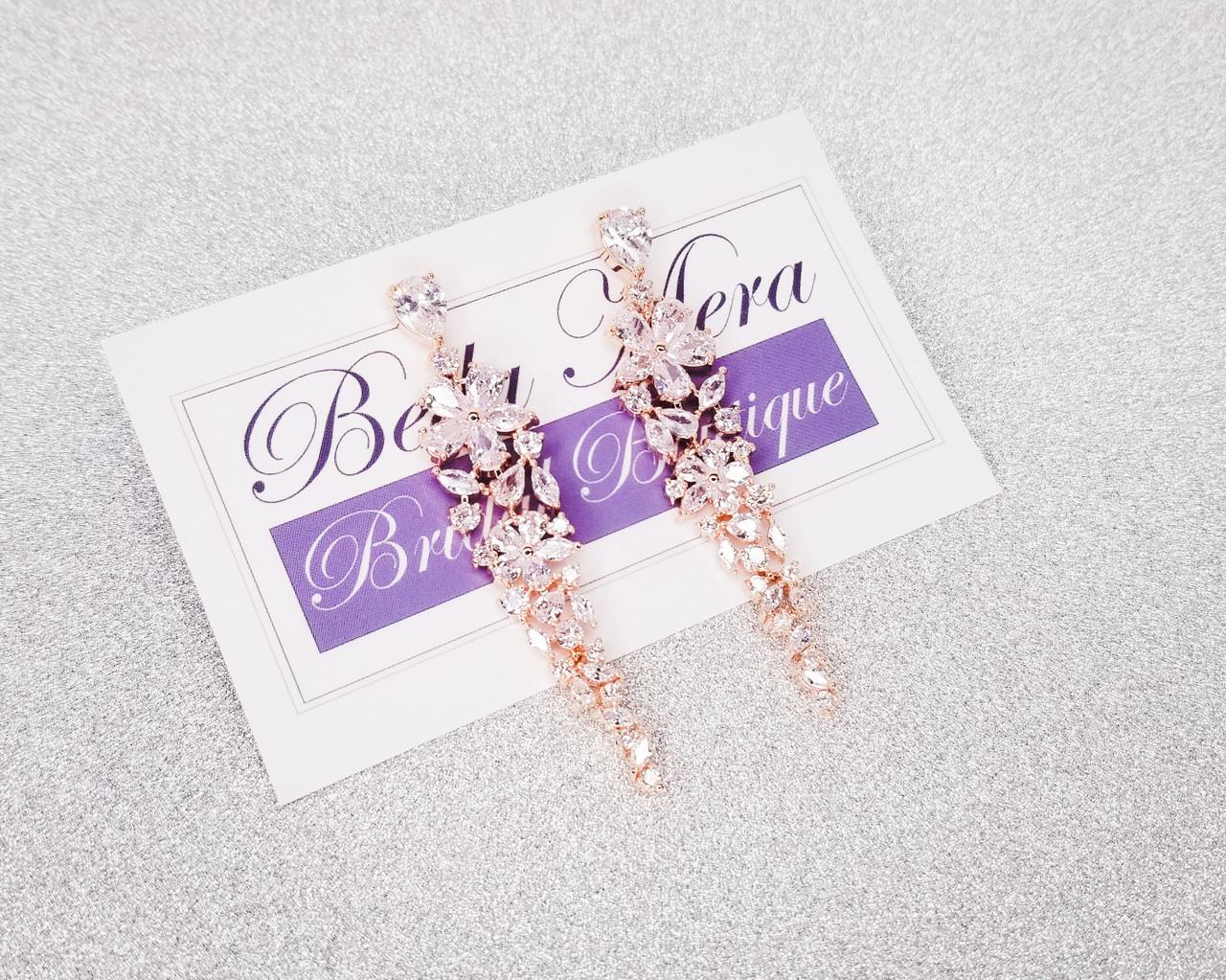 Bella Mera Studio Rose Gold Chandelier Earrings