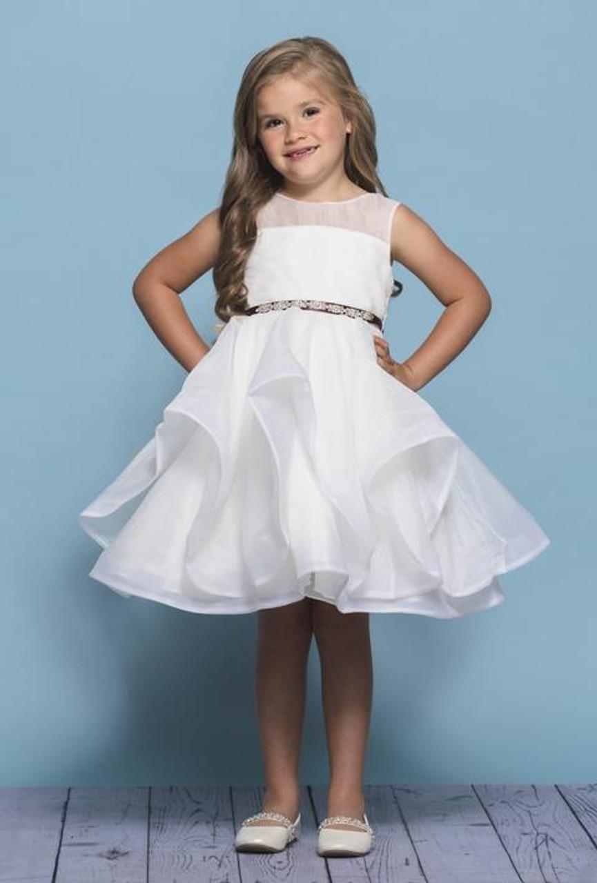 Rosebud Fashions Flower Girl Dresses Style 5138 - Organza & Horsehair Trim