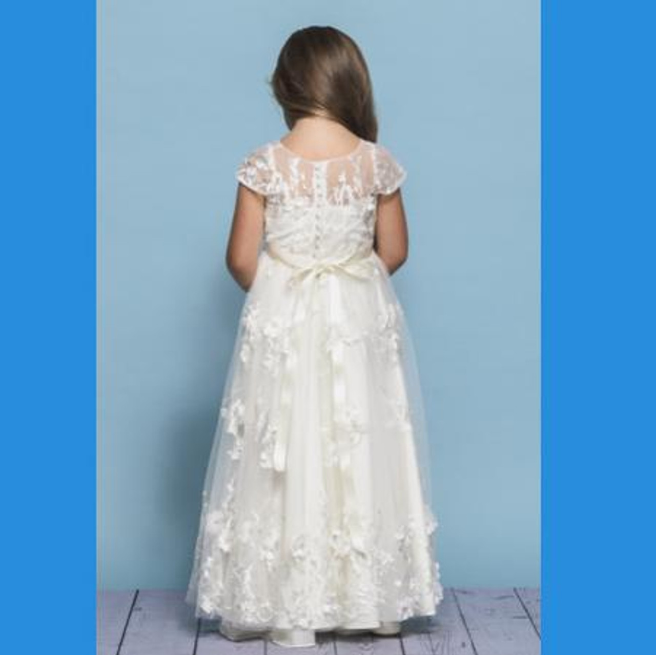 Rosebud Fashions Flower Girl Dresses Style 5137 - Satin and Lace