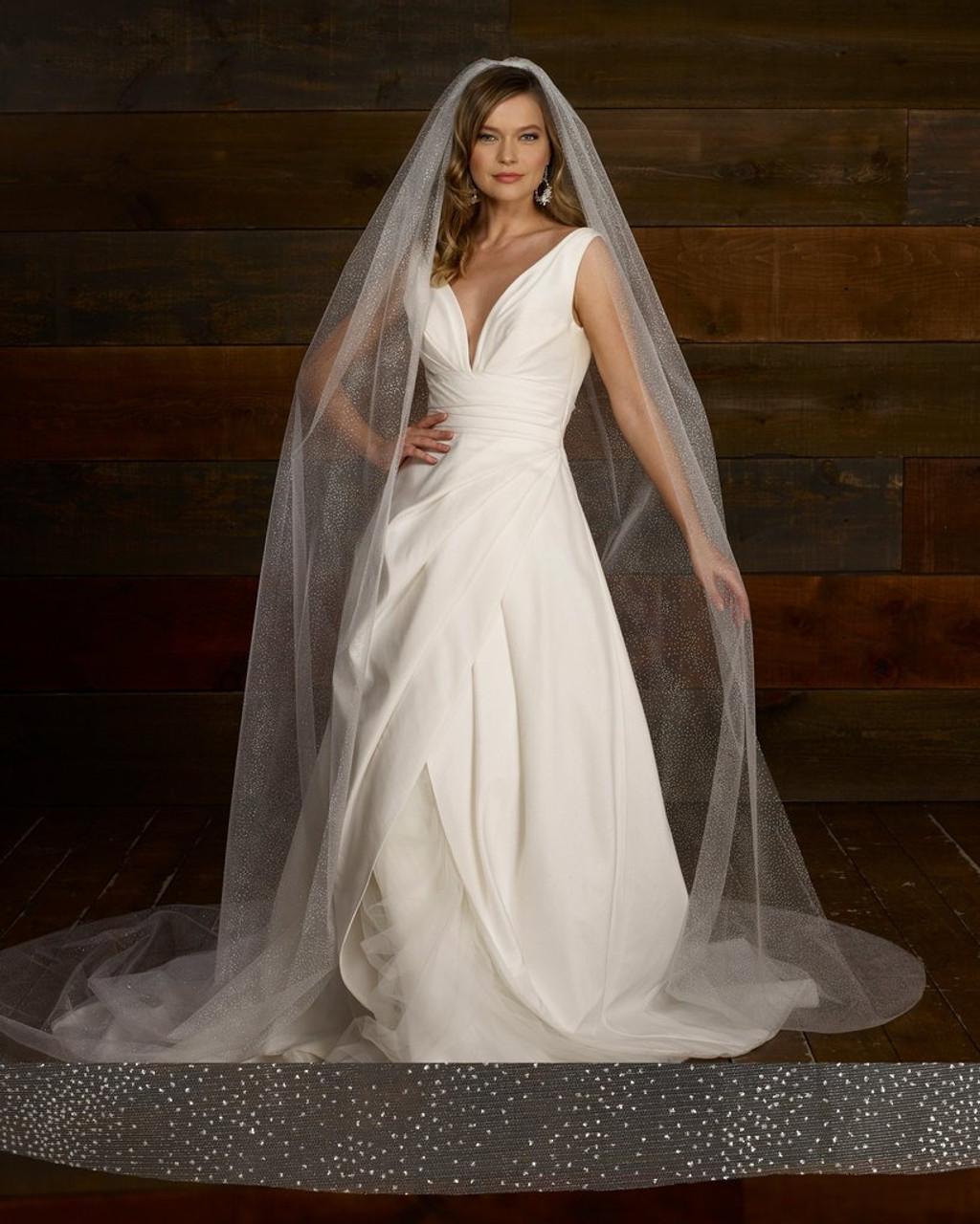 """Marionat Bridal Veils 3770 - 120""""x120"""" Glitter Shimmer veil"""