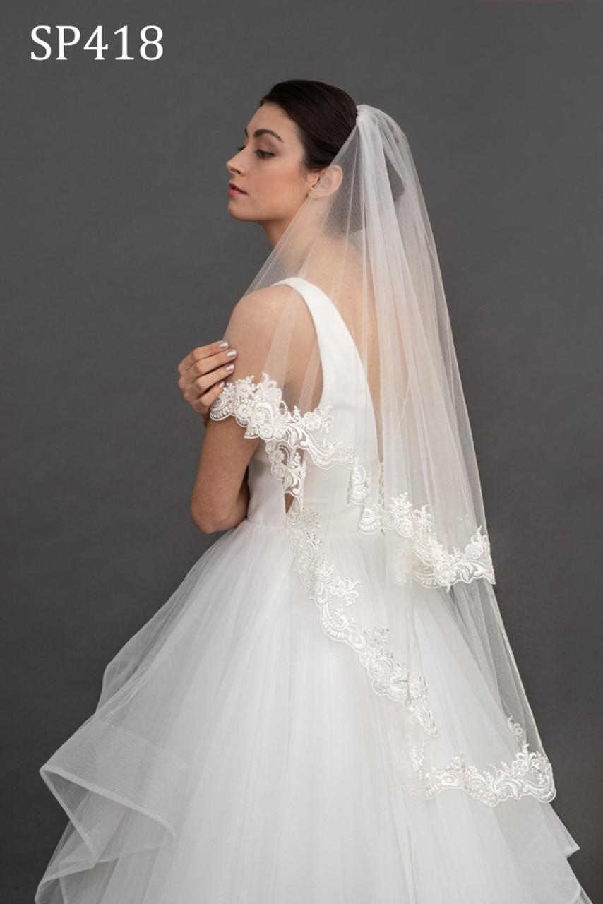 Giselle Bridal Veil Style SP418 - Two Tier Lace Veil