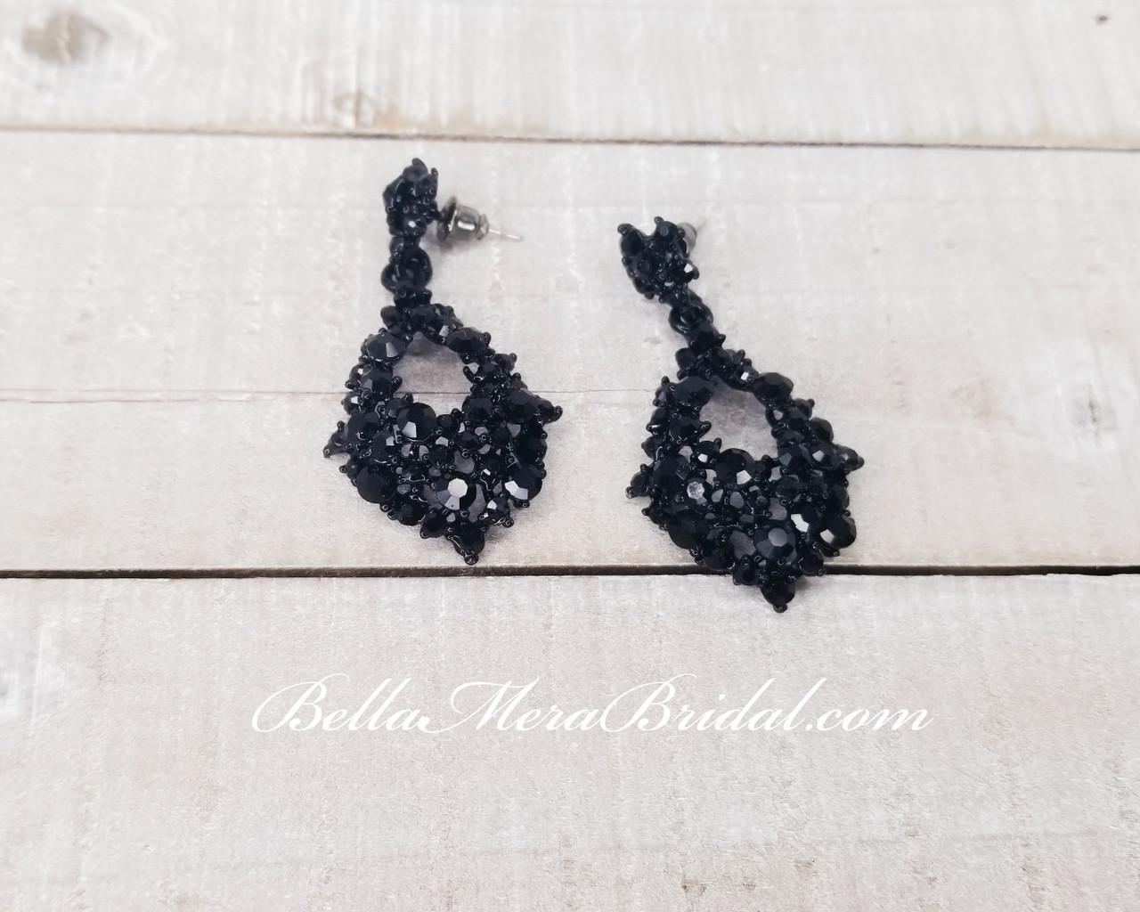 Bella Mera Studio  Rhinestone Chandelier Earrings