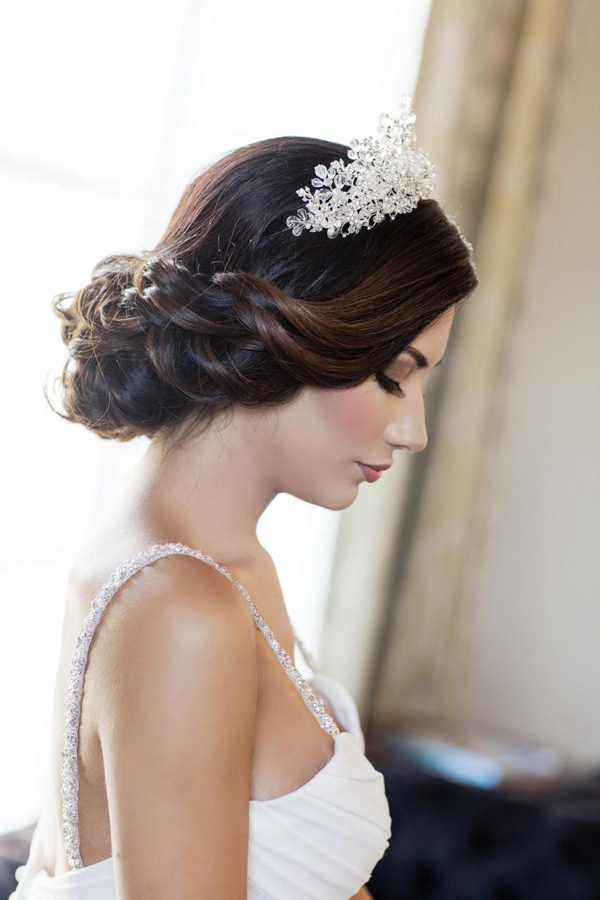 Maritza Bridal Headpiece 1073 - 3″ Crystal Rhinestone Headband