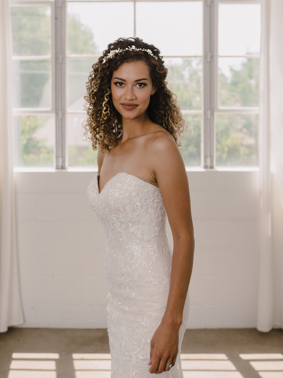 En Vogue Bridal Hair Jewelry HB2115 - Rhodium plated