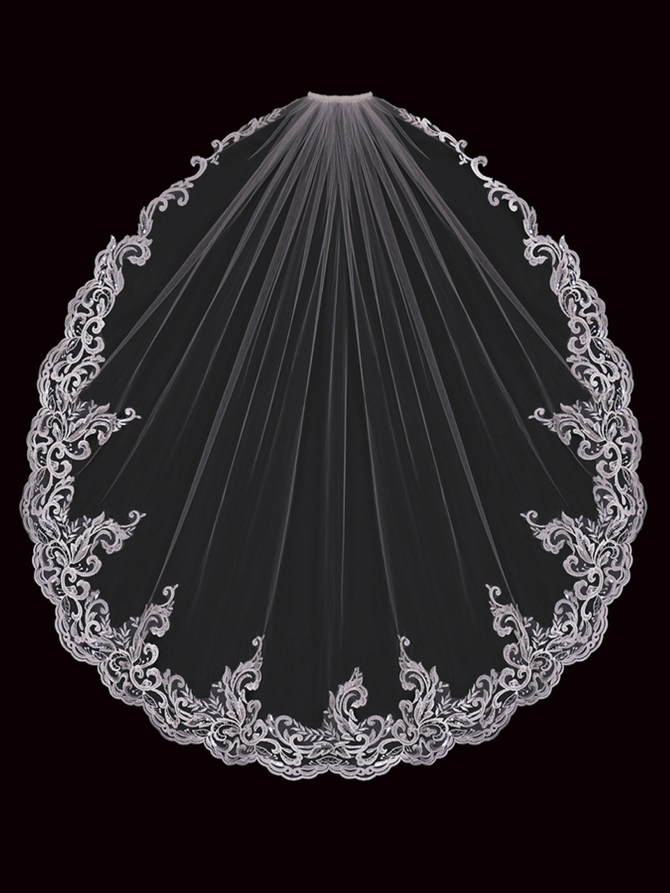 En Vogue Bridal Style V2199SF - English Tulle Fingertip Veil - One Tier