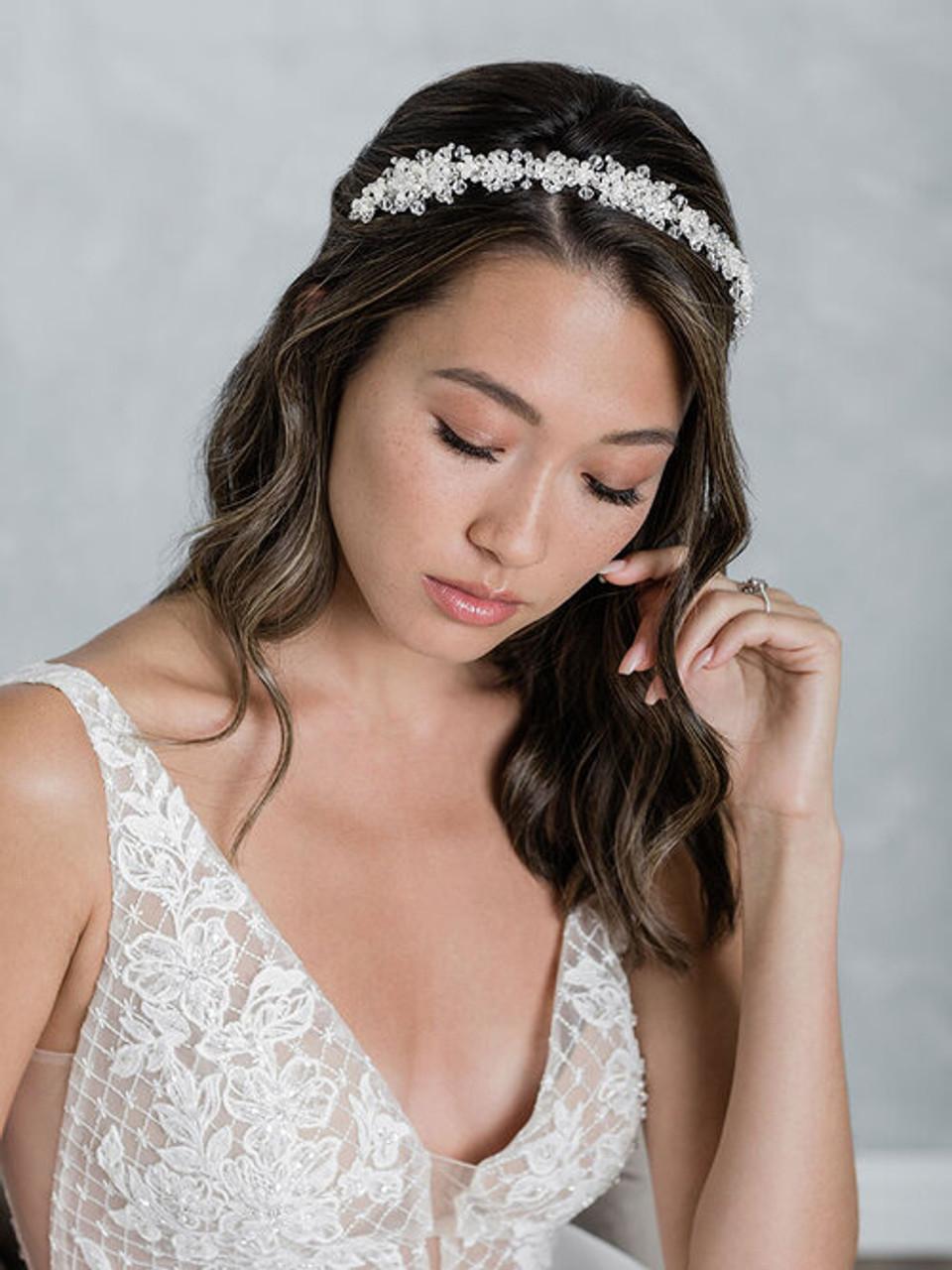 Bel Aire Bridal 2026 - Headband of pearls, crystals, and rhinestones