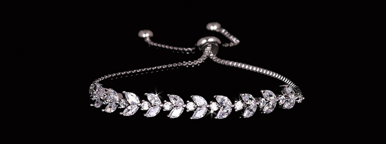 En Vogue Bridal Bracelet Set - Style BL2176