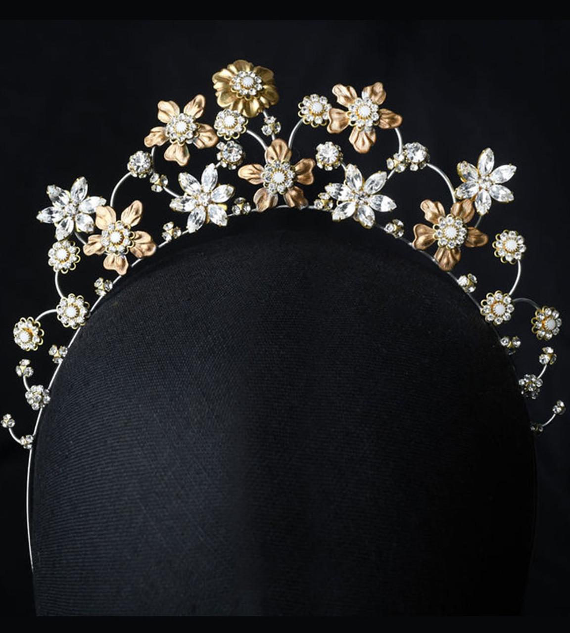 Erica Koesler A-5670 - Headband of eclectic metals and stones