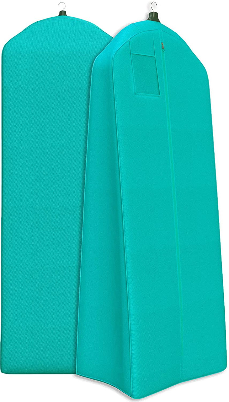 Tiffany Blue Extra Large & Extra White Fabric Breathable Garment Bag - Store Your Cathedral Veil or Gown
