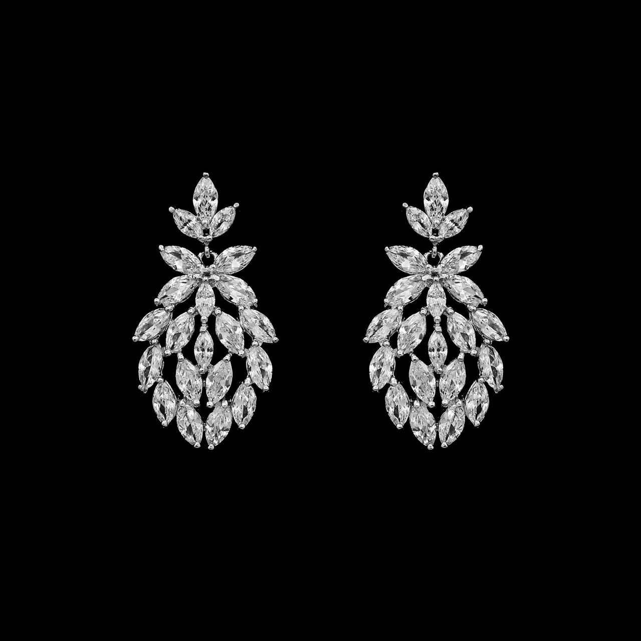 Formal Cubic Zirconia Earrings for Bridesmaids and Brides - #6210