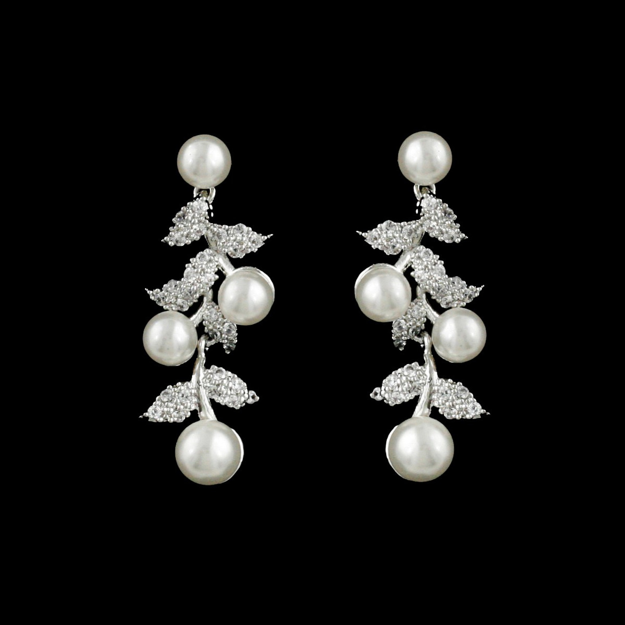 Formal Cubic Zirconia Earrings for Bridesmaids and Brides - #0418