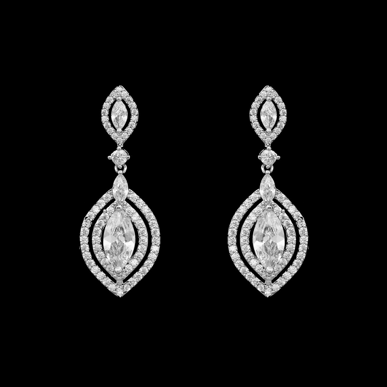 Formal Cubic Zirconia Earrings for Bridesmaids and Brides