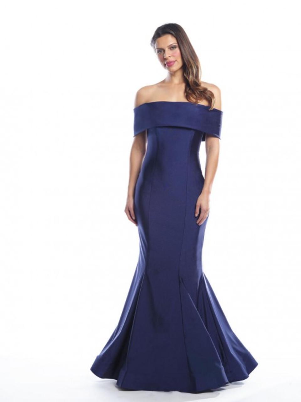 Bari Jay 2065 Off Shoulder Mermaid Bridesmaid Dress