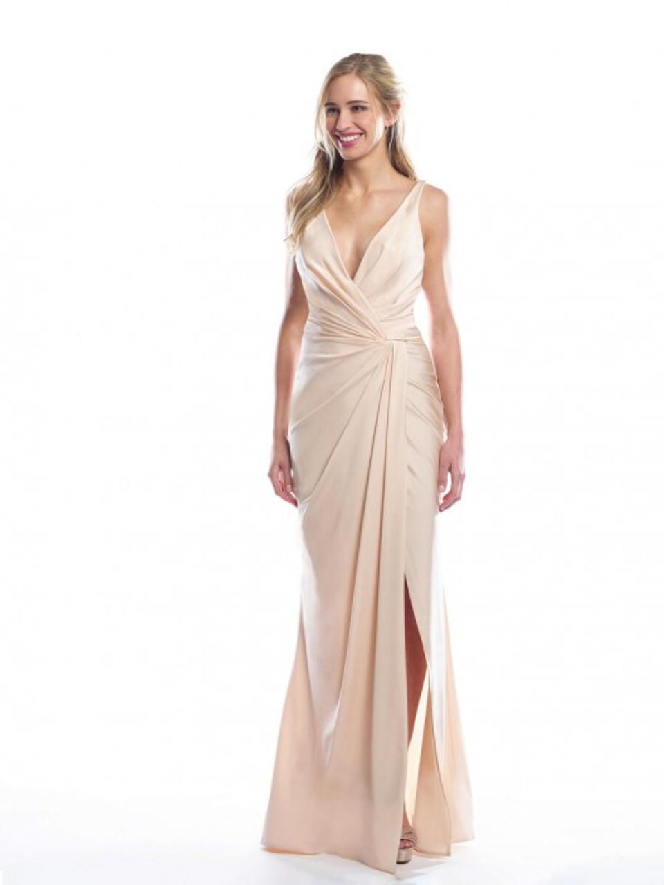 Bari Jay 2063 Mock Wrap Bridesmaid Dress - Lux Stretch