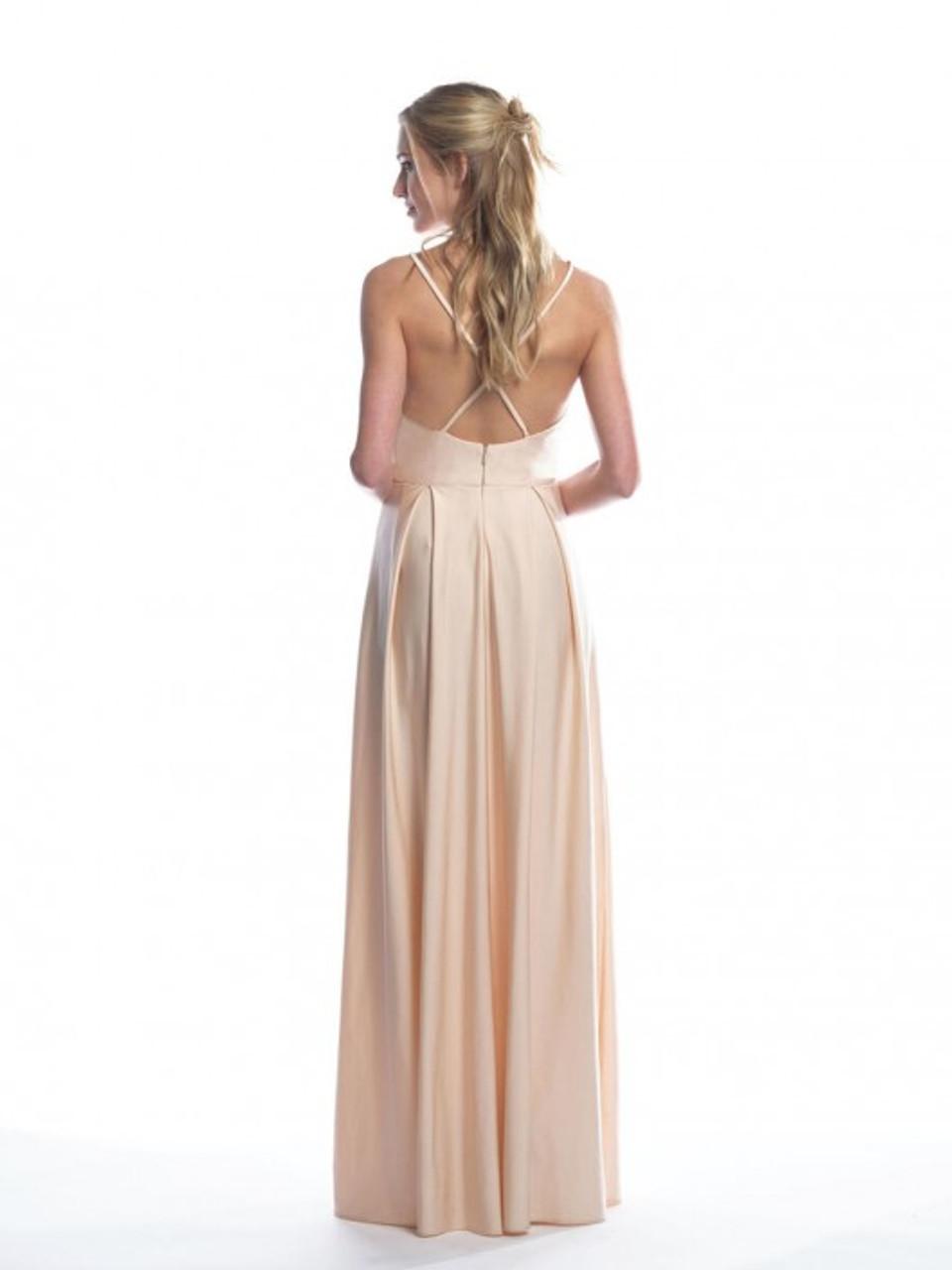 Bari Jay 2061 Slide Slit Bridesmaid Dress - Lux Stretch