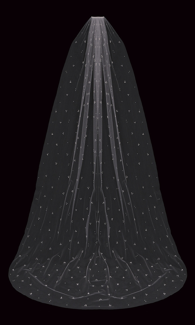 En Vogue Bridal Style V2295C - English Luxe Cathedral Lace Veil - 108 Inches
