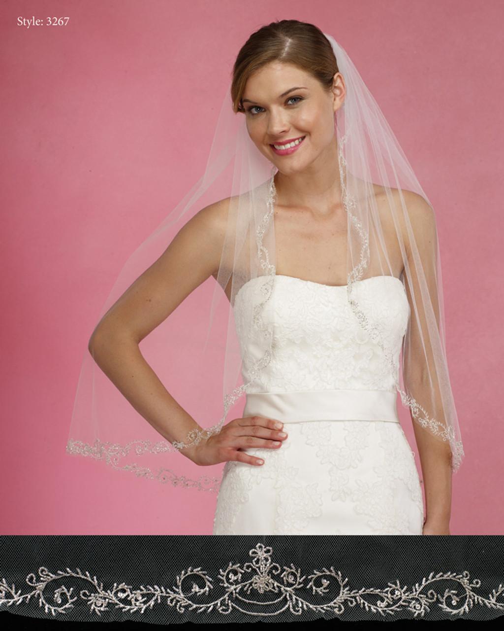 Marionat Bridal Veils 3267- The Bridal Veil Company - Beaded Embroidery