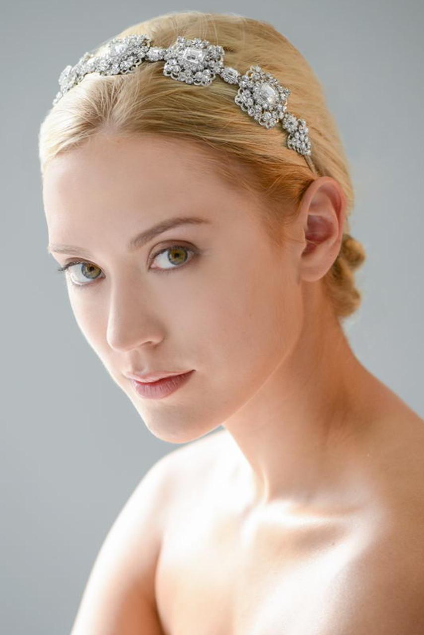 Erica Koesler Headband A-5506 - Rhinestone Filigree Headband