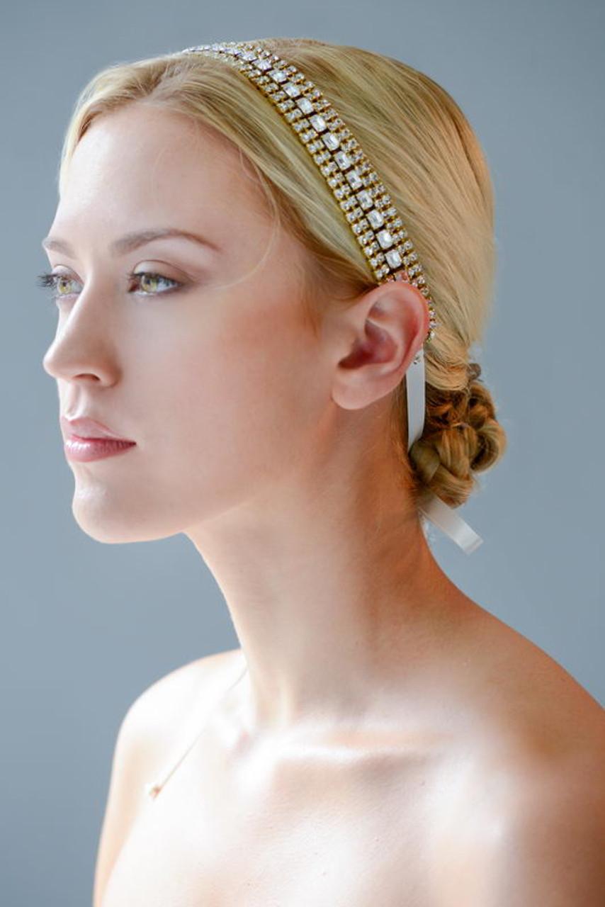 Erica Koesler Headband A-5519 - Headband with Velvet Ribbons
