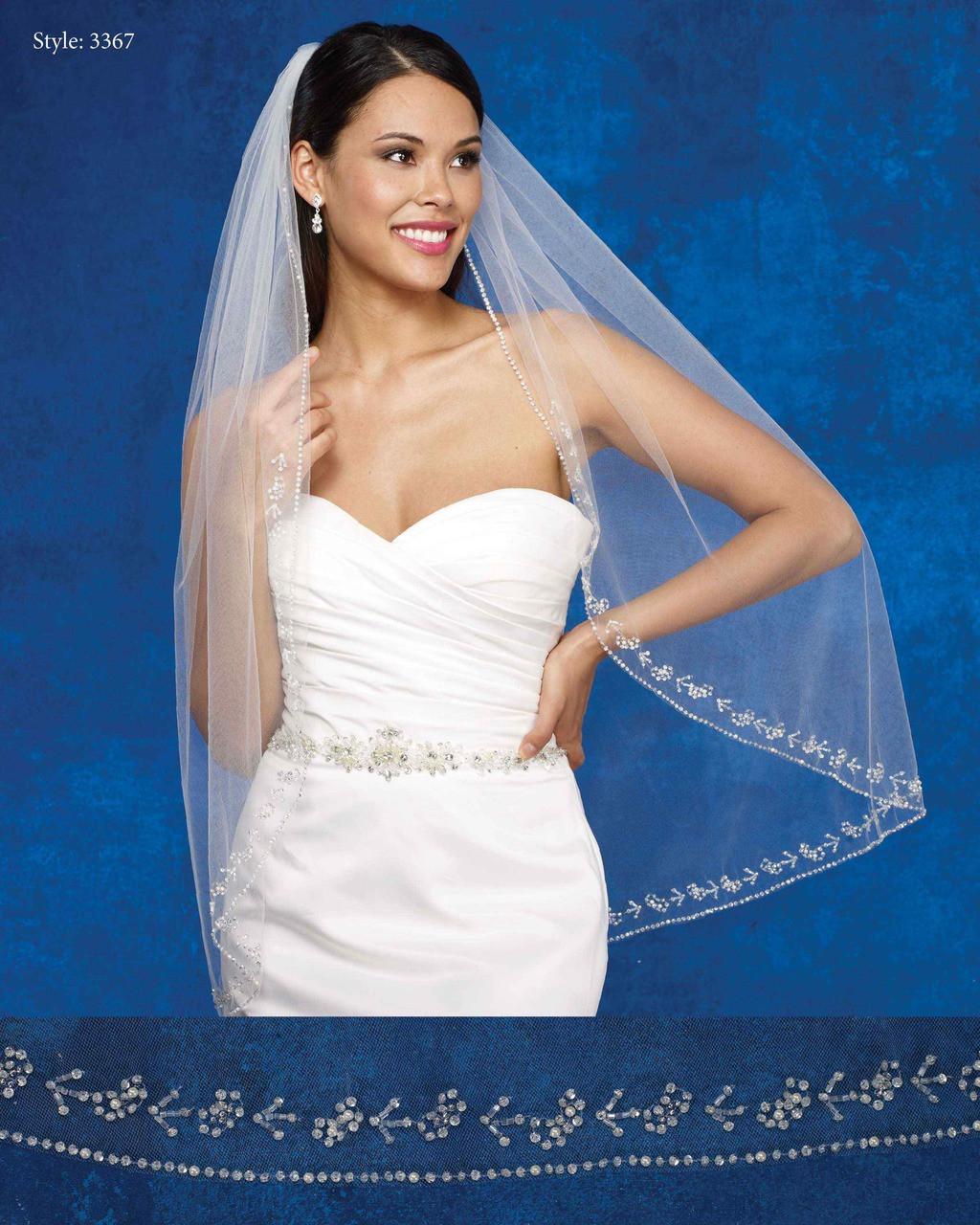 Marionat Bridal Veils 3367- The Bridal Veil Company - Fingertip Beaded Edge